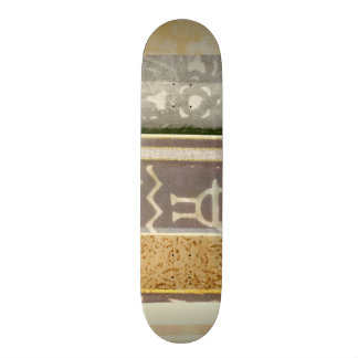 Contemporary Tribal Pattern Painting 21.6 Cm Skateboard Deck