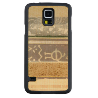 Contemporary Tribal Pattern Painting Carved Maple Galaxy S5 Case