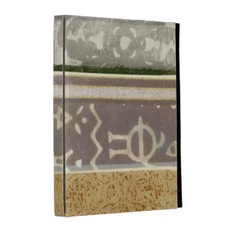 Contemporary Tribal Pattern Painting iPad Folio Cover