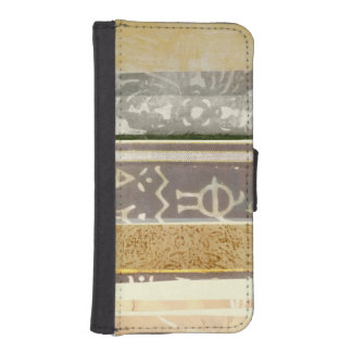 Contemporary Tribal Pattern Painting iPhone SE/5/5s Wallet Case