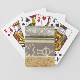Contemporary Tribal Pattern Painting Playing Cards