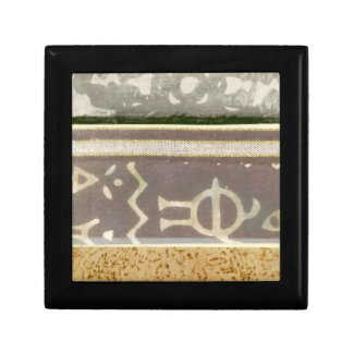 Contemporary Tribal Pattern Painting Small Square Gift Box