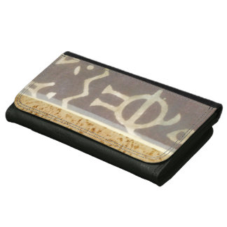 Contemporary Tribal Pattern Painting Wallets
