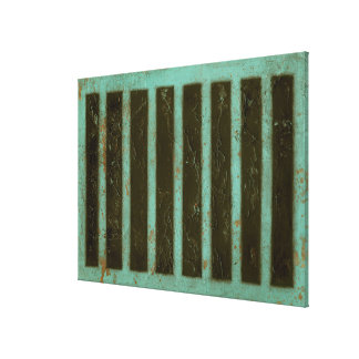 Contemporary Turquoise Air Grate Canvas Print