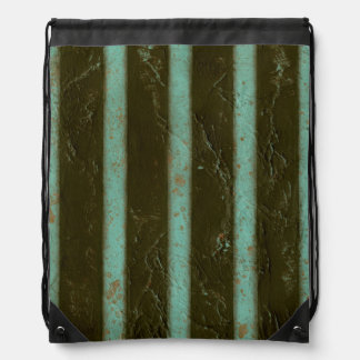 Contemporary Turquoise Air Grate Drawstring Bag