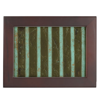 Contemporary Turquoise Air Grate Keepsake Box