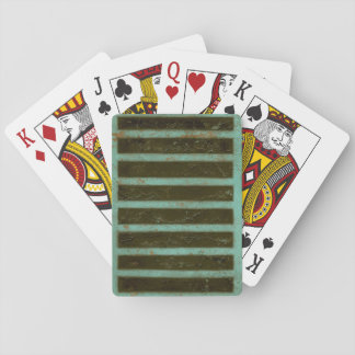 Contemporary Turquoise Air Grate Poker Deck