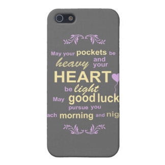 Contemporary Typography Irish Blessing in Gray iPhone 5 Case