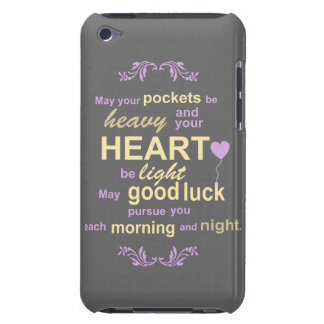 Contemporary Typography Irish Blessing in Gray iPod Case-Mate Cases