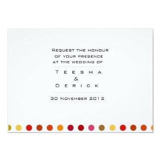 Contemporary wedding invitation card designed by K