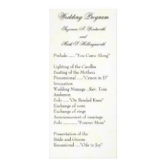 Contemporary Wedding Programs Yellow Rack Card