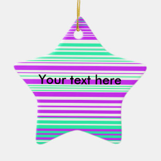 Contemporary white purple and marine stripes christmas ornaments