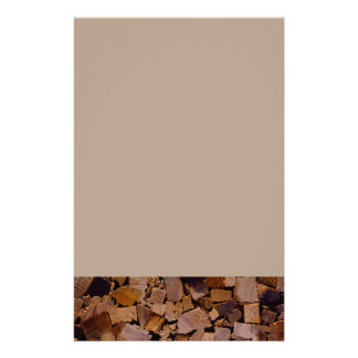 Contemporary wood chip design customized stationery