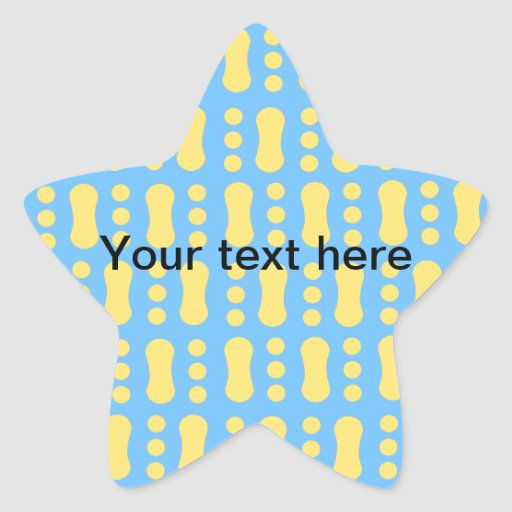Contemporary yellow peanut pattern on blue star sticker