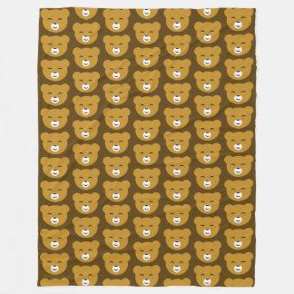 Content Bear Brown TP Fleece Blanket