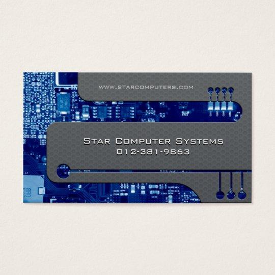 Content Developer Business Card Circuits Cutaway