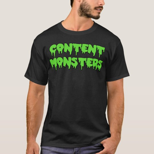 CONTENT MONSTERS CLASSIC BLACK T-Shirt