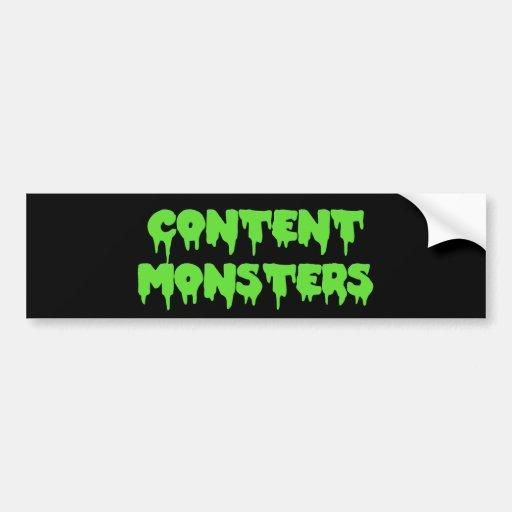 CONTENT MONSTERS CLASSIC BUMPER STICKER