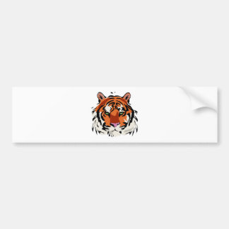 Content Tiger Face Bumper Sticker