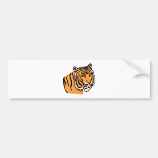 Content Tiger Face Bumper Stickers