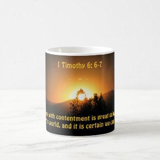 Contentment is gain coffee mug