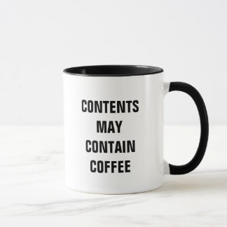 Contents May Contain Coffee (Mug) Mug