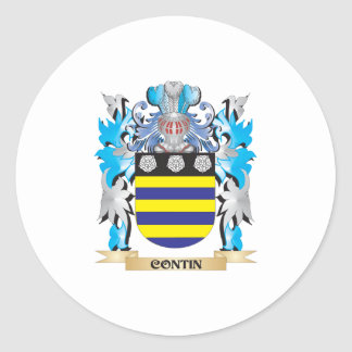 Contin Coat of Arms - Family Crest Round Stickers