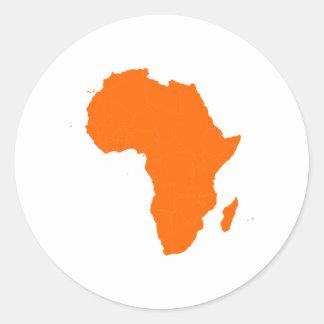 Continent of Africa Round Sticker