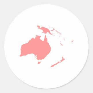 Continent of Australia Round Sticker