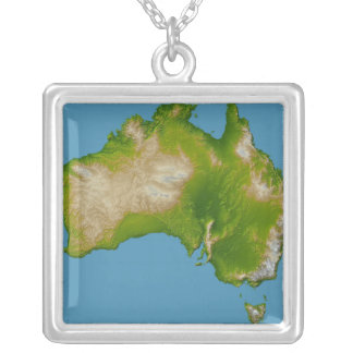 Continent of Australia Silver Plated Necklace