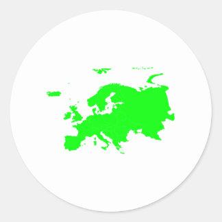 Continent of Europe Round Sticker