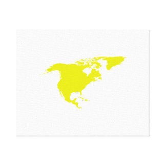 Continent of North America Canvas Prints