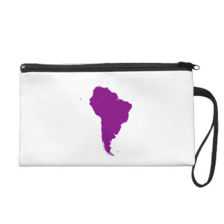 Continent of South America Wristlet Purse