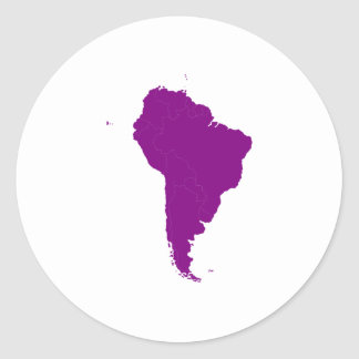 Continent of South America Round Sticker