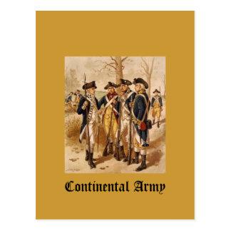 Continental Army Postcard