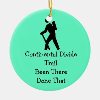 Continental Divide Trail Round Ceramic Decoration