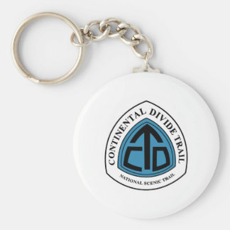 Continental Divide Trail Sign, USA Basic Round Button Key Ring