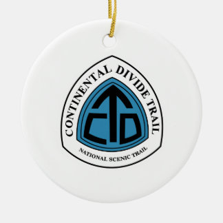 Continental Divide Trail Sign, USA Round Ceramic Decoration
