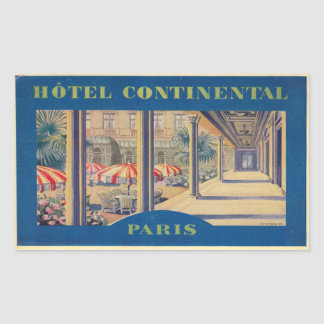 Continental Hotel (Paris) Rectangular Sticker