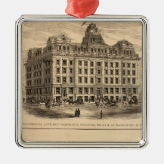 Continental Life Insurance Company Silver-Colored Square Decoration