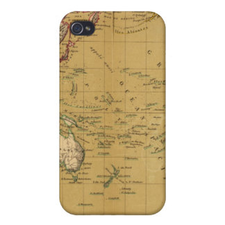 Continental Map Case For iPhone 4
