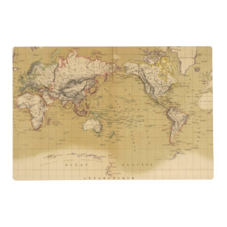 Continental Map Laminated Placemat