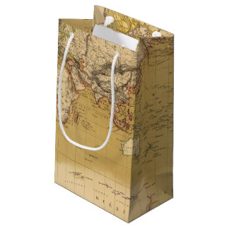 Continental Map Small Gift Bag