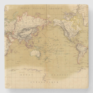 Continental Map Stone Beverage Coaster