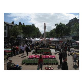 Continental Market in Carlisle Cumbria Postcard