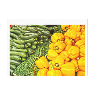 Continental market stretched canvas prints