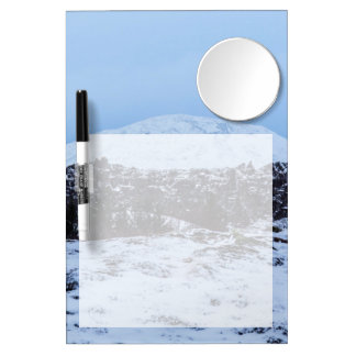 Continental plates in Iceland Dry Erase Board With Mirror