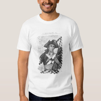 Continental Soldier holding a musket flag Shirt