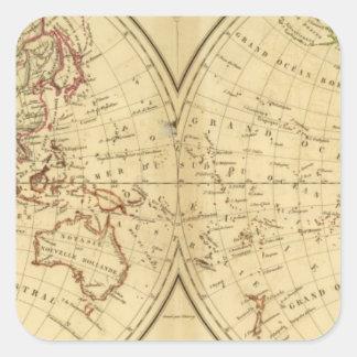Continents Square Sticker
