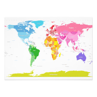 Continents World Map Announcements